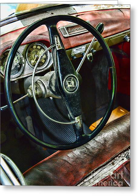 1956 Lancia Appia On The Inside Greeting Card by Paul Ward