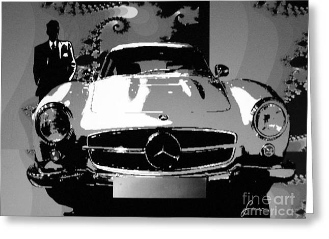 1956 Mercedes Benz 300 Sl Gullwing Greeting Card