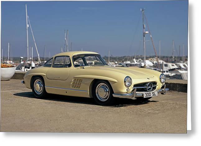 1956 Mercedes Benz 300sl Gullwing Greeting Card