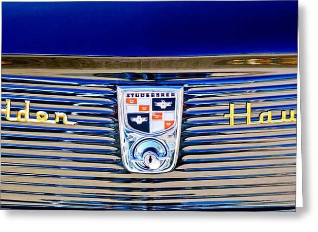 1956 Studebaker Golden Hawk Emblem Greeting Card by Jill Reger