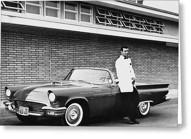 1956 Thunderbird Convertible Greeting Card by Underwood Archives