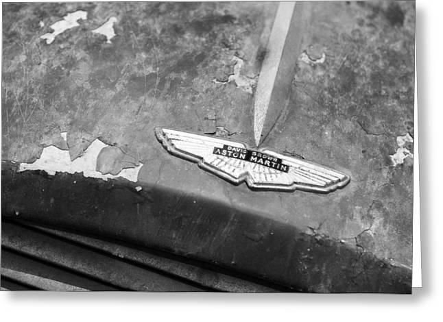 1957 Aston Martin Db2-4 Mk II Hood Emblem Greeting Card