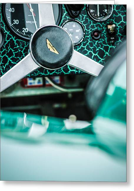 1957 Aston Martin Dbr2 Steering Wheel Emblem -2345c Greeting Card by Jill Reger