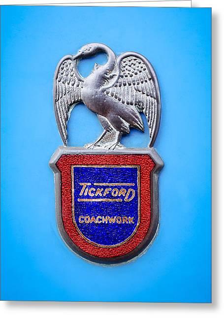 1957 Aston Martin Mk IIi Prototype - Tickford Coachwork Emblem Greeting Card