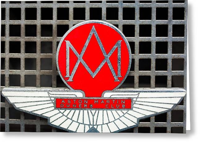 1957 Aston Martin Owner's Club Emblem Greeting Card