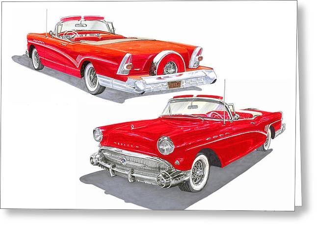 1957 Buick Special Convertible  Greeting Card by Jack Pumphrey
