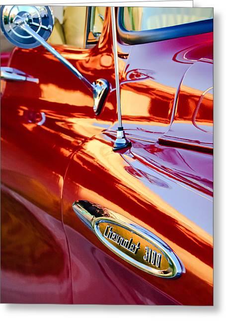 1957 Chevrolet 3100 Pickup Truck Side Emblem Greeting Card