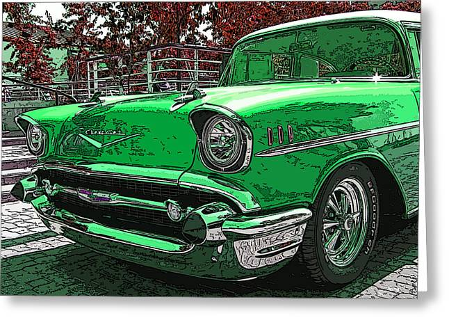 1957 Chevrolet Bel Air Greeting Card