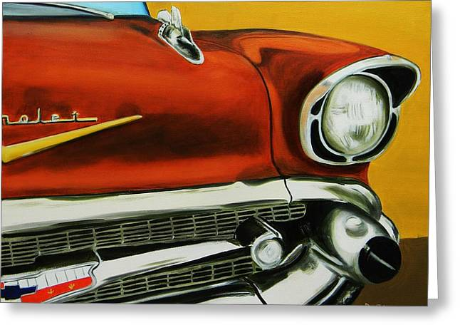 1957 Chevy - Coppertone Greeting Card