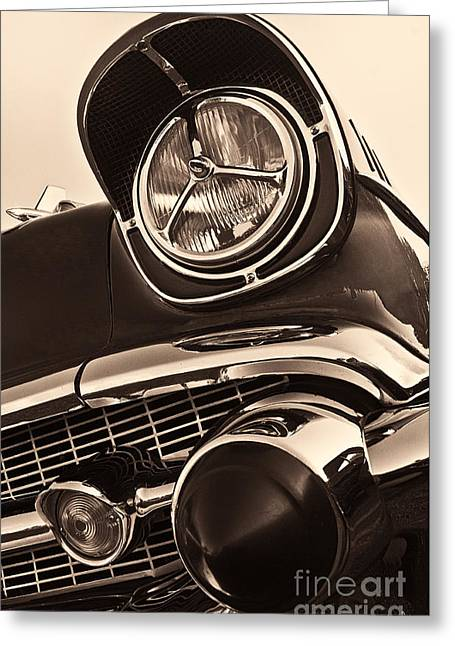 1957 Chevy Details Greeting Card