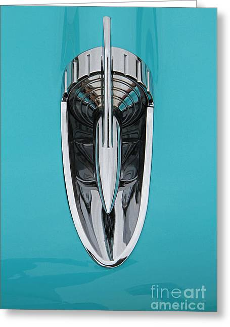 1957 Chevy Hood Ornament Greeting Card