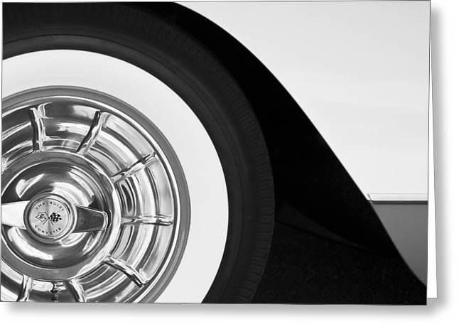 1957 Corvette Wheel Greeting Card