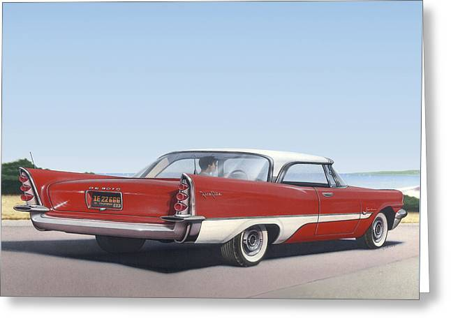1957 De Soto - Square Format Image Picture Greeting Card