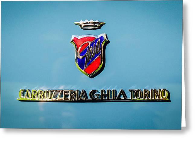 1957 Dual Ghia Sport Emblem Greeting Card