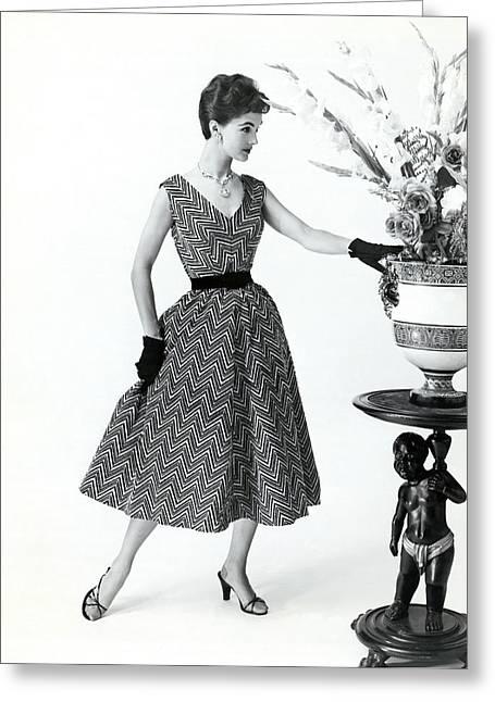 1957 Evening Fashion Greeting Card