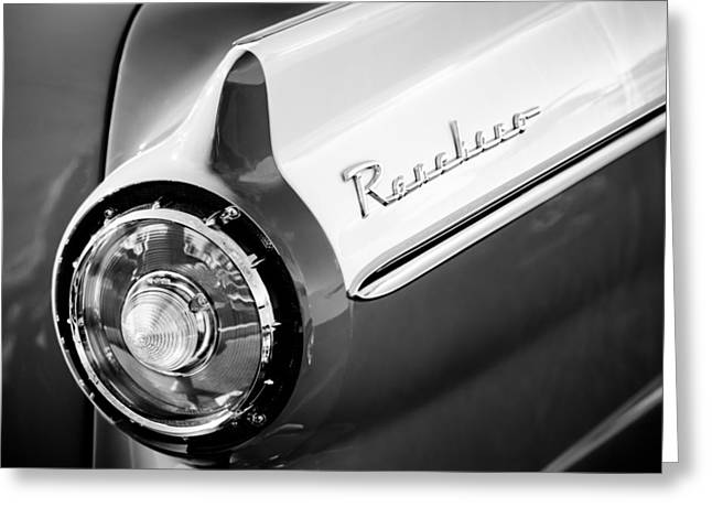 1957 Ford Custom 300 Series Ranchero Taillight Emblem Greeting Card by Jill Reger