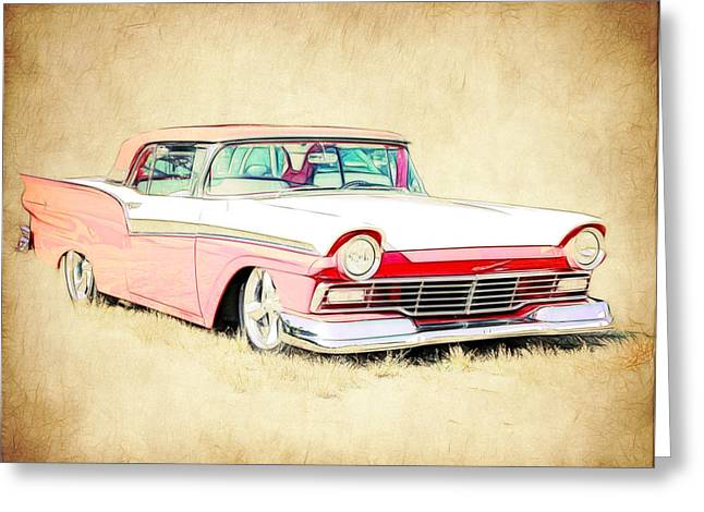 1957 Ford Fairlane Greeting Card by Steve McKinzie