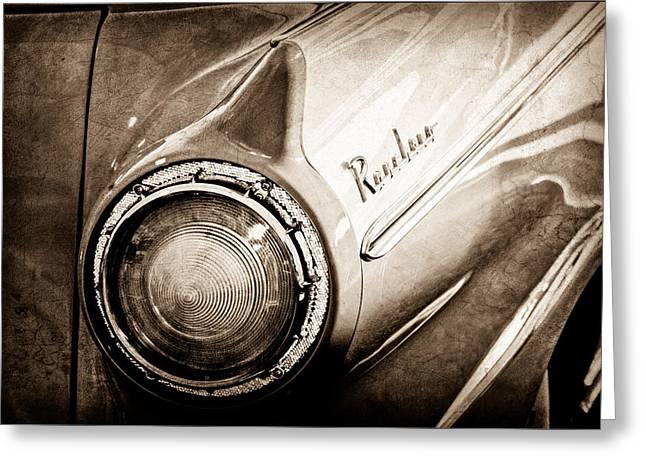 1957 Ford Ranchero Pickup Truck Emblem Taillight Greeting Card by Jill Reger
