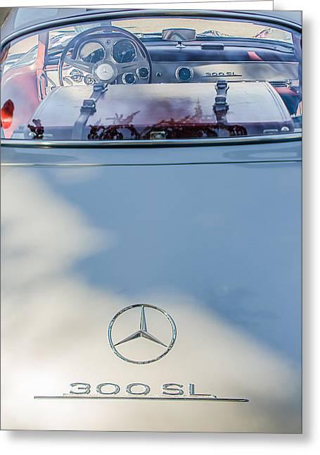 1957 Mercedes-benz Gullwing 300 Sl Rear Emblem Greeting Card