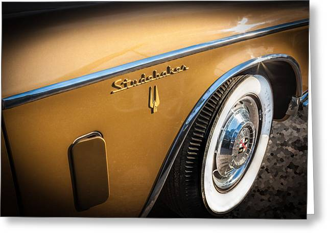 1957 Studebaker Golden Hawk     Greeting Card by Rich Franco