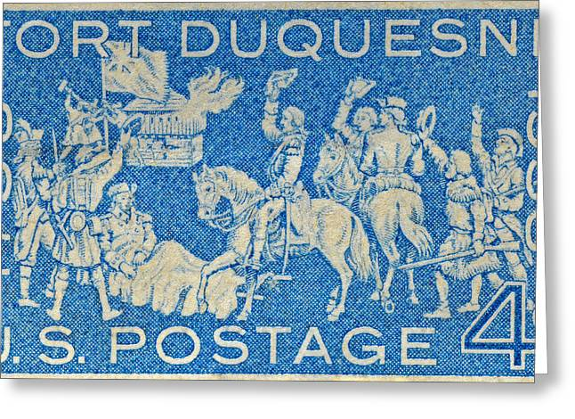 1958 Battle Of Fort Duquesne Stamp Greeting Card