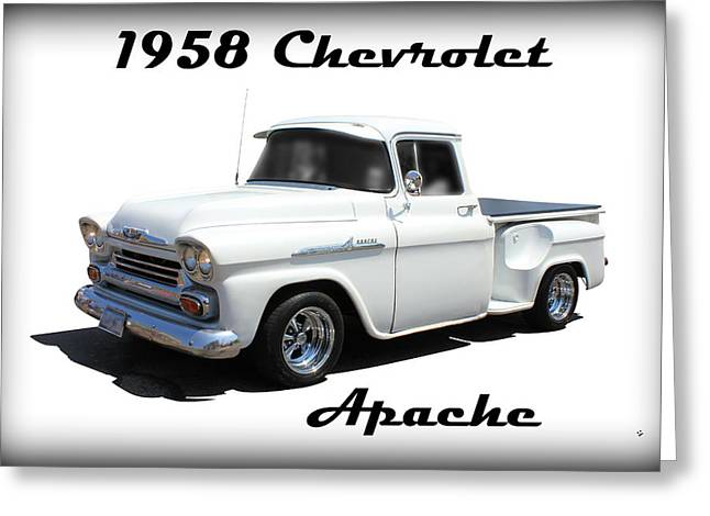 1958 Chevrolet Apache Greeting Card by Betty Northcutt