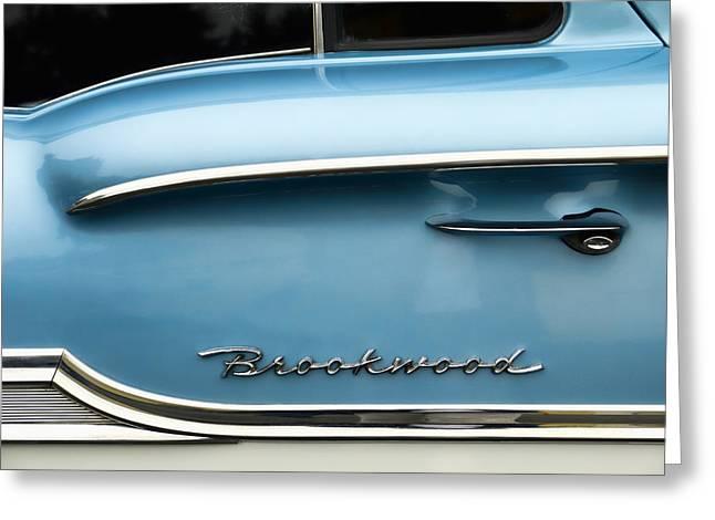 1958 Chevrolet Brookwood Station Wagon Greeting Card