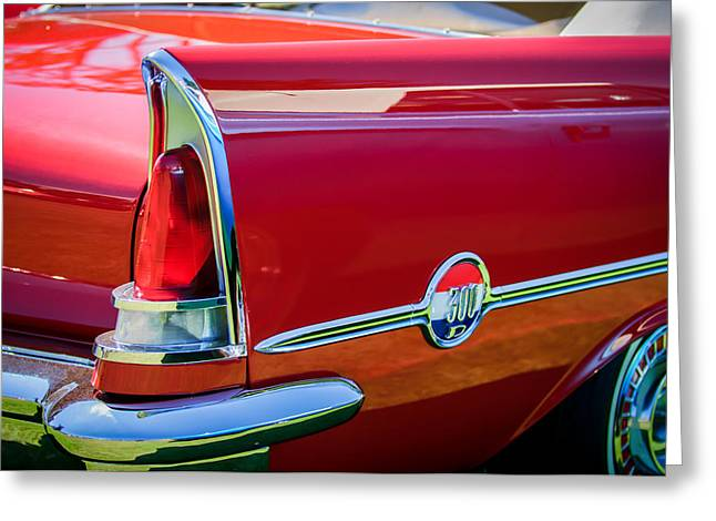 1958 Chrysler 300d Convertible Taillight Emblem -2972c Greeting Card