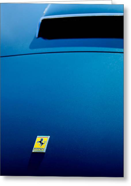 1958 Ferrari 250 Gt Lwb California Spider Hood Emblem Greeting Card