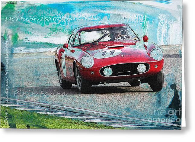 1958 Ferrari 250 Gt Tour De France Greeting Card