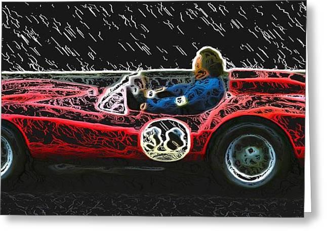1958 Ferrari 250 Testa Rossa Greeting Card