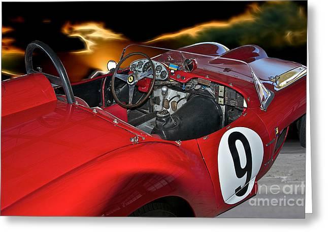 1958 Ferrari 250gt Testa Rossa 'driver's Compartment' Greeting Card