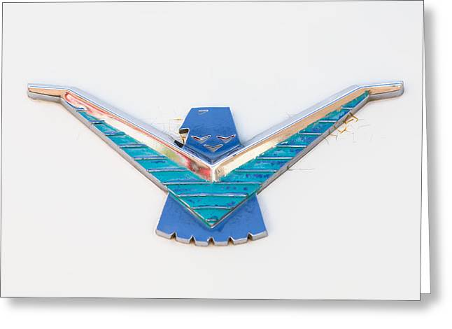 1958 Ford Thunderbird Emblem -0174c Greeting Card