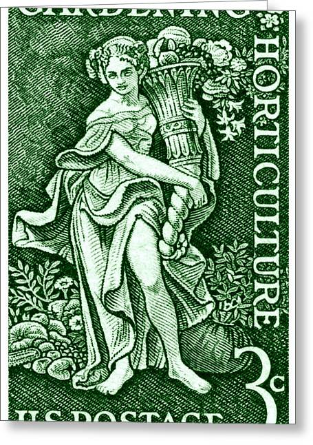 1958 Gardening And Horticulture Stamp Greeting Card by Historic Image