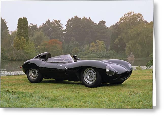1958 Jaguar D-type 3.8 Litre Sports Greeting Card