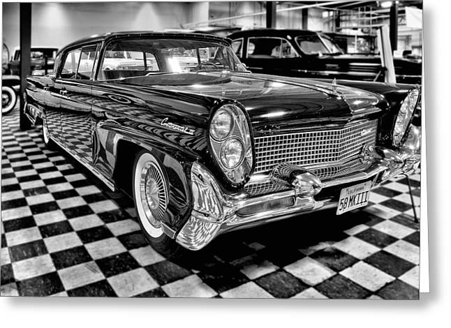 1958 Lincoln Continental Mk IIi Greeting Card by Michael Gordon