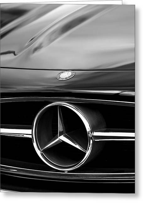 1958 Mercedes-benz 300sl Roadster Grille Emblem Greeting Card