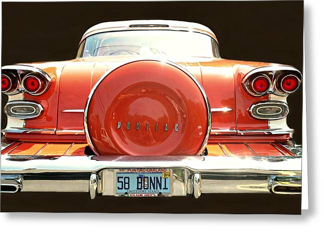 1958 Pontiac Bonneville Greeting Card by Diana Angstadt