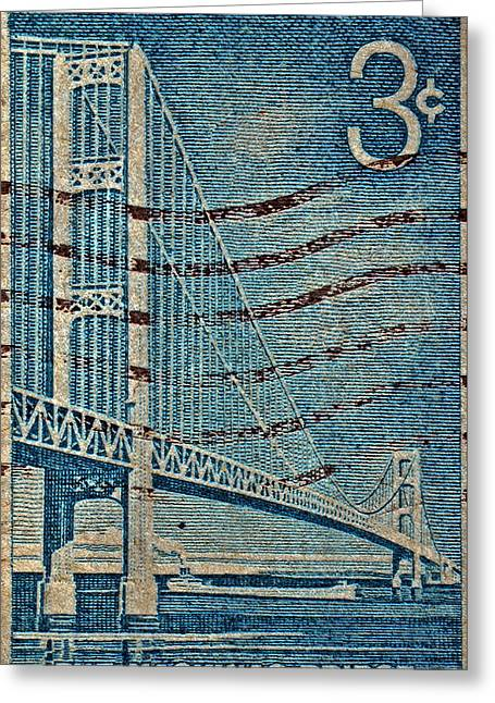 1958 The Mighty Mac Stamp Greeting Card