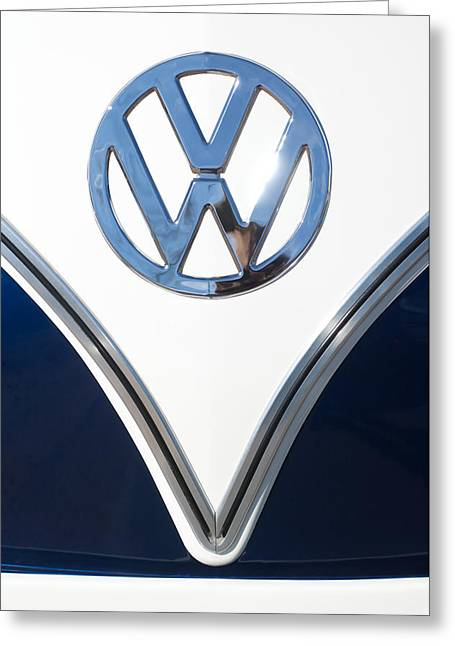 1958 Volkswagen Vw Bus Emblem Greeting Card