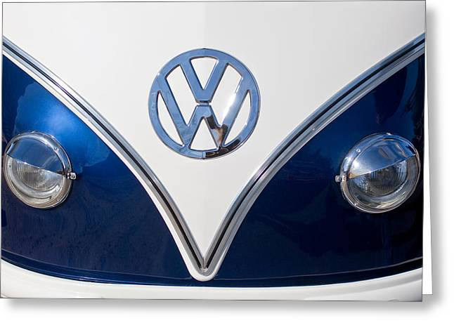 1958 Volkswagen Vw Bus Hood Emblem Greeting Card