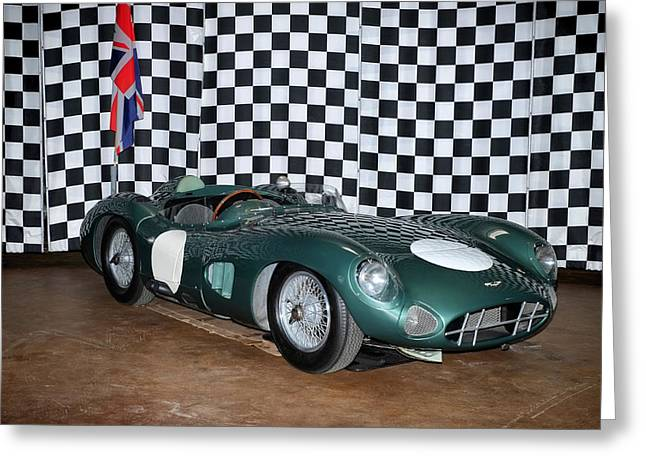 1959 Aston Martin Dbr1 Greeting Card