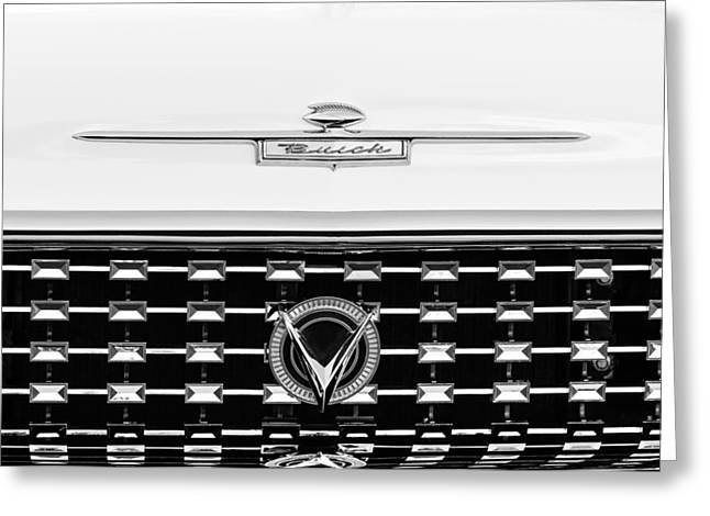1959 Buick Lesabre Convertible Grille Emblems Greeting Card by Jill Reger