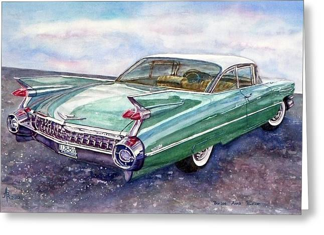 1959 Cadillac Cruising Greeting Card