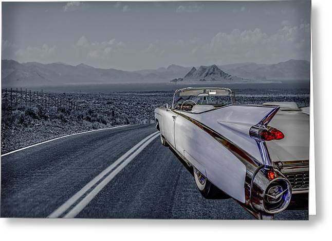 1959 Cadillac Eldorado Cool Night Greeting Card