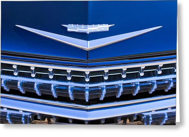 1959 Cadillac Eldorado Hood Ornament Greeting Card by Jill Reger