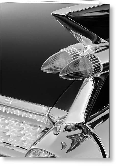 1959 Cadillac Eldorado Taillight -075bw Greeting Card
