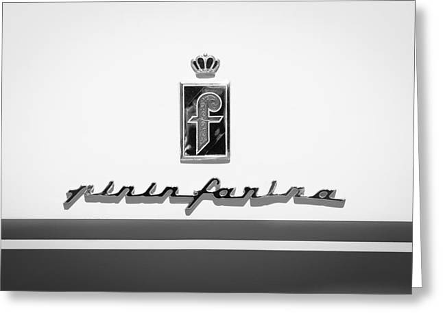 1959 Ferrari 250 Gt Coupe Pinin Farina Emblems Greeting Card by Jill Reger