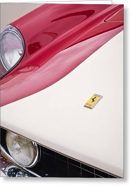 1959 Ferrari 250 Gt Lwb Berlinetta Tdf Emblem Greeting Card by Jill Reger