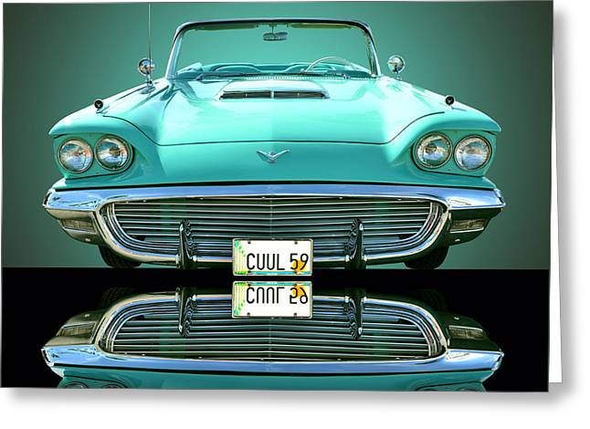1959 Ford T Bird Greeting Card